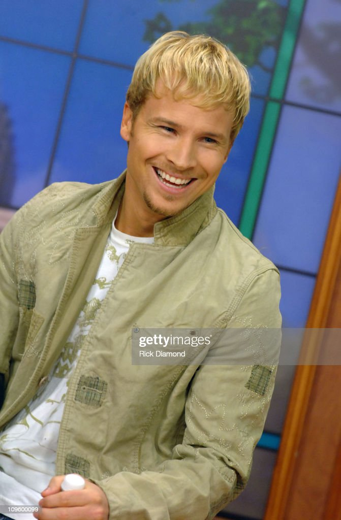 """Brian Littrell Visits """"Good Morning Atlanta"""" To Promote His Album """"Welcome Home"""" - May 2, 2006 : News Photo"""