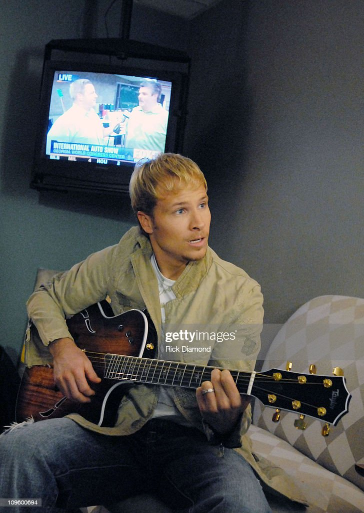 "Brian Littrell Visits ""Good Morning Atlanta"" To Promote His Album ""Welcome Home"" - May 2, 2006 : News Photo"