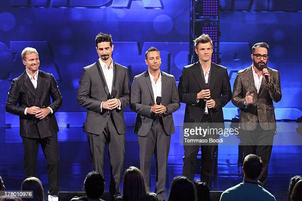 Brian Littrell Kevin Richardson Howie Dorough Nick Carter and AJ McLean of The Backstreet Boys perform at the Muscular Dystrophy Association's 48th...
