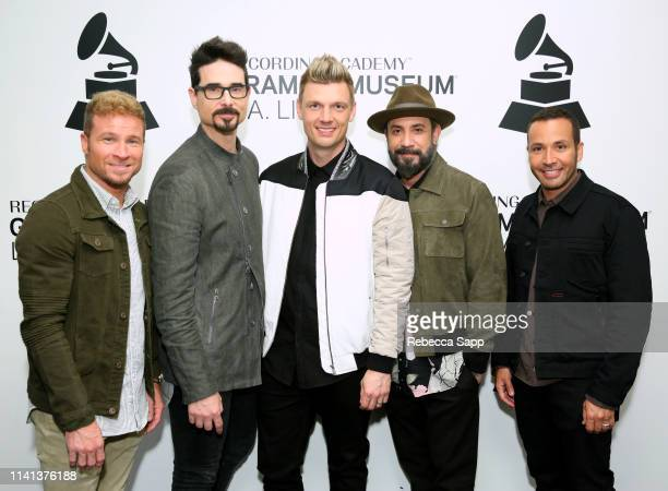 Brian Littrell Kevin Richardson Nick Carter AJ McLean and Howie Dorough of the Backstreet Boys attend An Evening With Backstreet Boys at the GRAMMY...