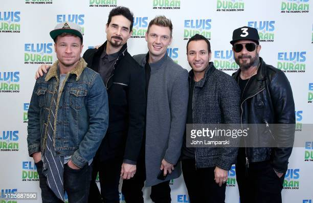 Brian Littrell Kevin Richardson Nick Carter Howie Dorough and AJ McLean of the Backstreet Boys visit The Elvis Duran Z100 Morning Show at Z100 Studio...
