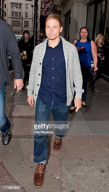 Brian Littrell leaving the Mayfair hotel on June 29 2013 in London England
