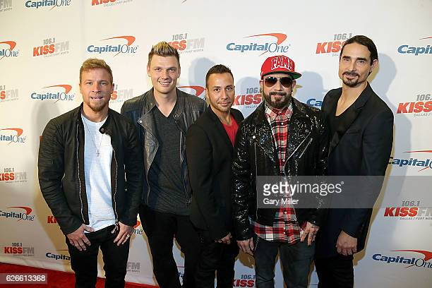 Brian Littrell Nick Carter Howie Dorough A J McLean and Kevin Richardson of the Backstreet Boys attend the 1061 KISS FM's Jingle Ball 2016 Presented...