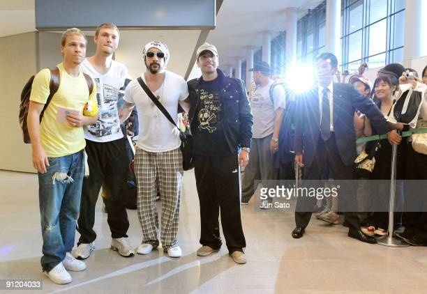 Brian Littrell Nick CarterAJ Mclean and Howie Dorough of Backstreet Boys arrives at Narita International Airport on September 28 2009 in Narita Chiba...