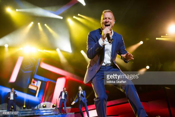 Brian Littrell of Back Street Boys is performing at Shoreline Amphitheatre on May 25 2014 in Mountain View California