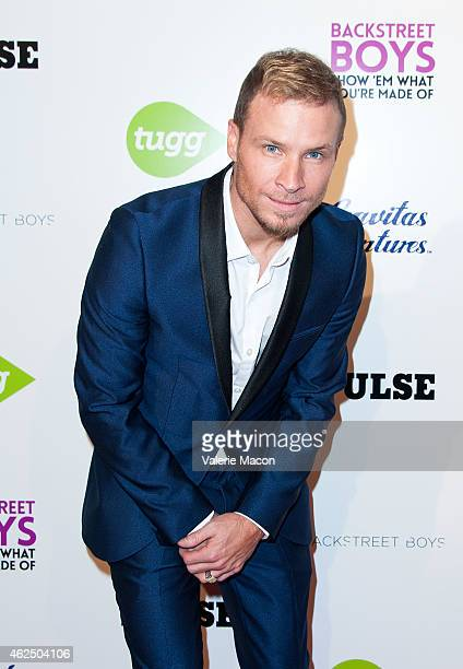 Brian Littrell of Backstreet Boys arrives at the Premiere Of Gravitas Ventures' Backstreet Boys Show 'Em What You're Made Of at ArcLight Cinemas...