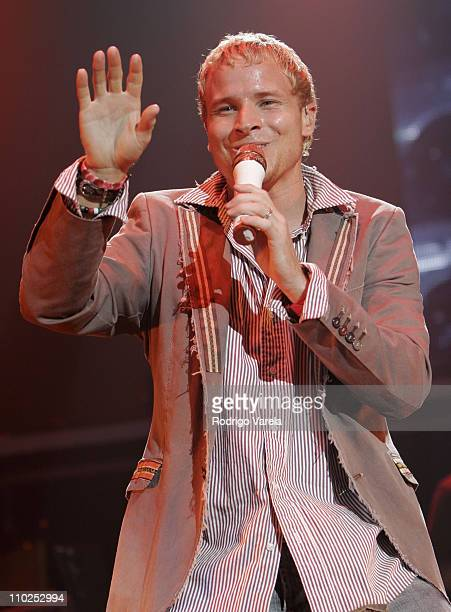 Brian Littrell of Backstreet Boys during Backstreet Boys in Concert July 22 2005 at Sound Advice Amphitheater in West Palm Beach Florida United States