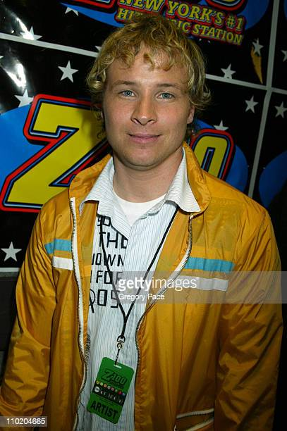 Brian Littrell of Backstreet Boys during Z100's Zootopia 2004 at Madison Square Garden in New York City New York United States