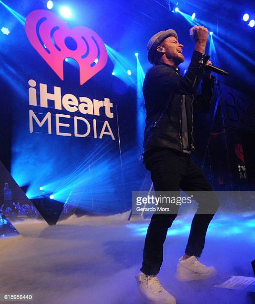 Brian Littrell of Backstreet Boys performs at a dinner party hosted by iHeartMedia during the ANA Masters Of Marketing at Rosen Shingle Creek Resort...