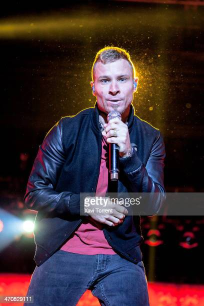Brian Littrell of Backstreet Boys performs in concert on February 20 2014 in Barcelona Spain