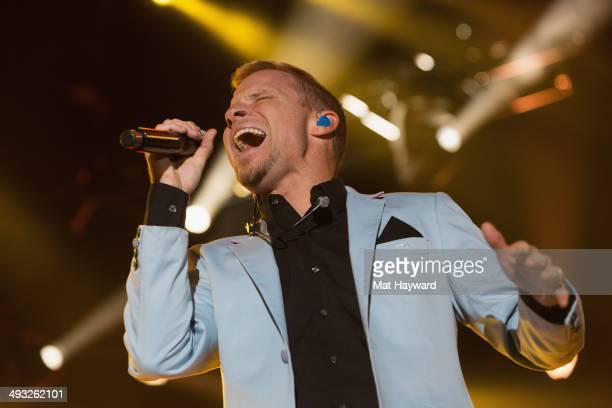 Brian Littrell of Backstreet Boys performs on stage at WaMu Theater on May 22 2014 in Seattle Washington