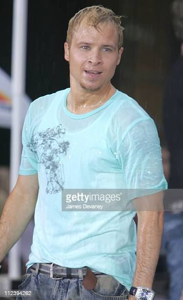 Brian Littrell of the Backstreet Boys during Backstreet Boys Perform on the 2005 NBC's The Today Show Summer Concert Series at NBC Studios...