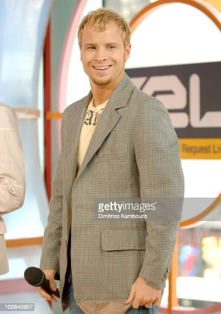Brian Littrell of The Backstreet Boys during Backstreet Boys Visit MTV's TRL June 14 2005 at MTV Studios Times Square in New York City New York...