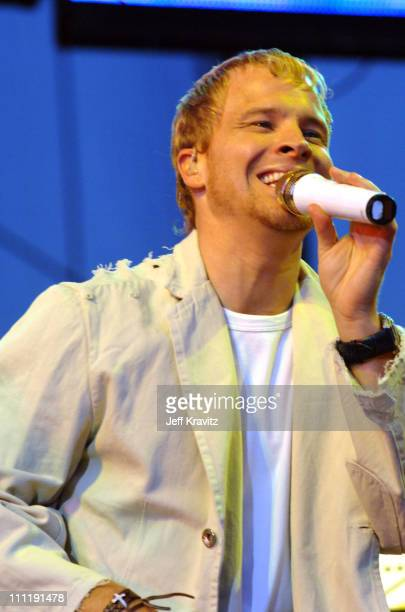 Brian Littrell of the Backstreet Boys during KIIS 1027's Wango Tango at Angel's Stadium in Anaheim California United States