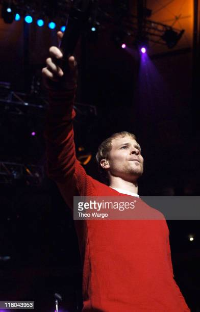 Brian Littrell of The Backstreet Boys during Z100's Jingle Ball 2005 Show at Madison Square Garden in New York City New York United States
