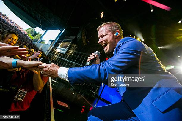 Brian Littrell of the Backstreet Boys performs at DTE Energy Music Theater on June 17 2014 in Clarkston Michigan