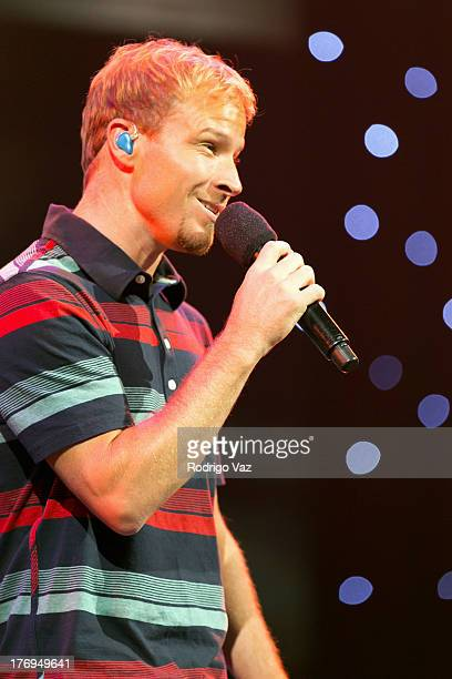Brian Littrell of The Backstreet Boys performs at Muscular Dystrophy Association's 48th Annual MDA Show of Strength Telethon Show at CBS Studios on...