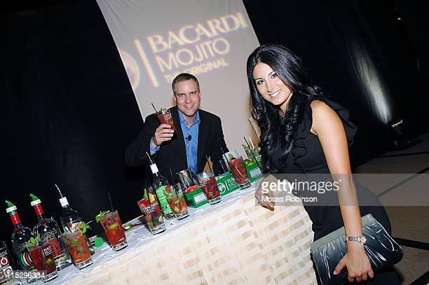 Brian Loukmas and Amy Eslami attends the Bacardi Mojito Masterclass at Four Seasons Atlanta on August 18 2008 in Atlanta Georgia