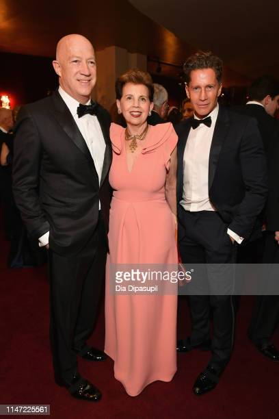Brian Lourd Arlene Arsht and Bruce Bozzi attend Lincoln Center's 60th Anniversary Diamond Jubilee Gala on May 05 2019 in New York City