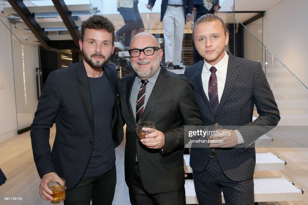 Brian Ludlow, floral artist Eric Buterbaugh and Kevin Hilgart attend the private Hennessy X.O on Ice dinner, hosted by actor Armie Hammer, in Beverly Hills, CA on May 10, 2017. The dinner served to unveil Hennessy X.O's new 3-D printed ice bucket designed by architect Paul McClean. The ice bucket encourages serving Hennessy X.O, the world's original Extra Old Cognac, on ice to best enjoy the spirit's multisensory taste odyssey.