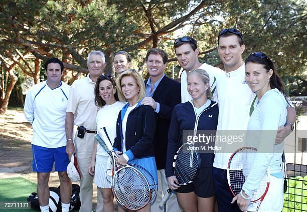 Brian MacPhie George Lazenby Pam Shriver Melissa Rivers Donna Mills Steve Bellamy President of the Tennis Channel Mike Bryan Bob Bryan Jill Craybas...