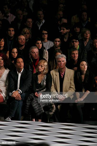 Brian Magallones Cindy Sherman David Byrne and Malu Byrne attend MARC JACOBS Fall 2007 Collection at The Armory on February 5 2007 in New York City
