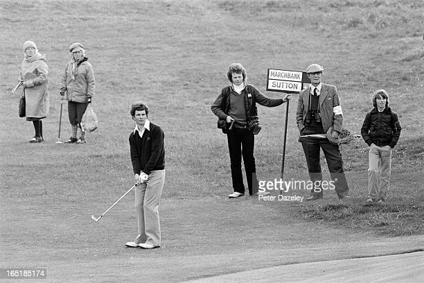 Brian Marchbank of Scotland during the final day of the 1979 Walker Cup Matches at the Honourable Company of Edinburgh Golfers Muirfield on May 31...