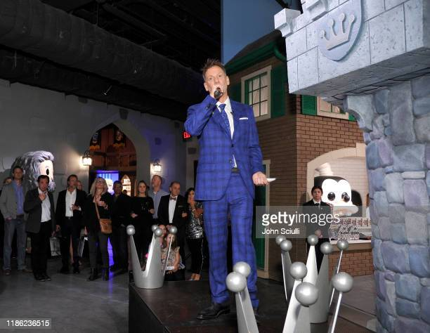Brian Mariotti speaks onstage at the Funko Hollywood VIP Preview Event at Funko Hollywood on November 07 2019 in Hollywood California
