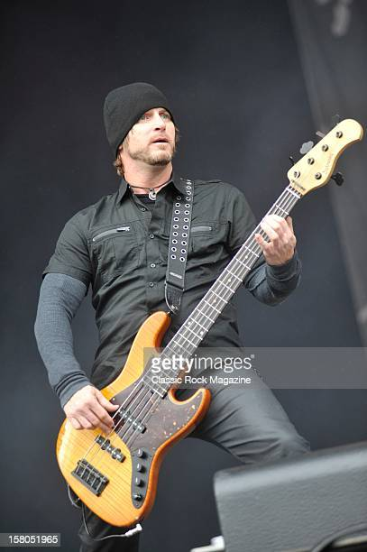 Brian Marshall from Alter Bridge live onstage at Download Festival 2011 Donington Park Leicester June 10 2011