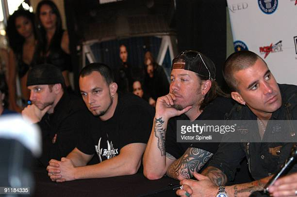 Brian Marshall Mark Tremonti Scott Phillips and Scott Stapp Rockpit presents Creed in concert at The Cynthia Woods Mitchell Pavilion on September 25...
