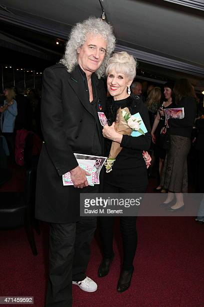 Brian May and Anita Dobson attend the gala performance of 'Follies In Concert' in celebration of Stephen Sondheim's 85th birthday year at Royal...