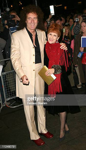 Brian May and Anita Dobson during Spamalot VIP West End Premiere Outside Arrivals in London United Kingdom