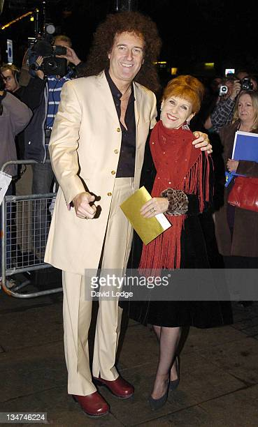 Brian May and Anita Dobson during 'Spamalot' West End Premiere Arrivals at Palace Theatre in London Great Britain