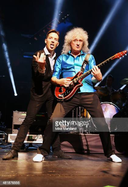 Brian May and Dan Gillespie Sells perform at City Rocks at the Royal Albert Hall in support of Coram the world's oldest children's charity which is...