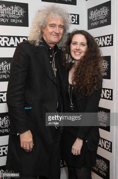 Brian May and Emily May attend The Kerrang Awards at the Troxy on June 13 2013 in London England