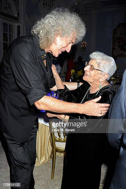 Brian May and Freddie Mercury's mother Jer Bulsara attend Freddie For A Day celebrating Freddie Mercury's 65th birthday in aid of The Mercury Pheonix...