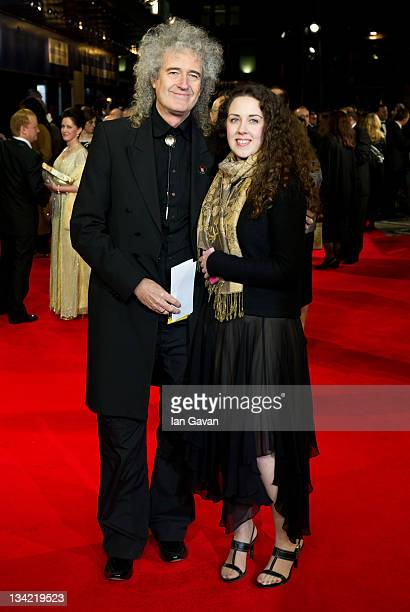 Brian May and his daughter Emily Ruth attend the Royal film performance of Martin Scorsese's 'Hugo in 3D' at the Odeon Leicester Square on November...