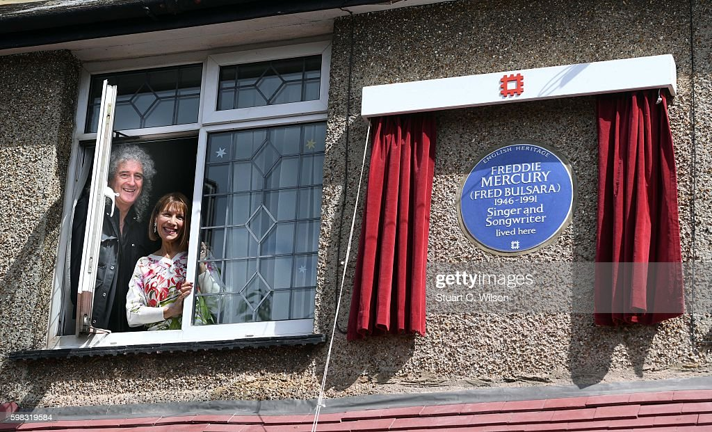 Unveiling Of English Heritage Plaque To Freddie Mercury : News Photo