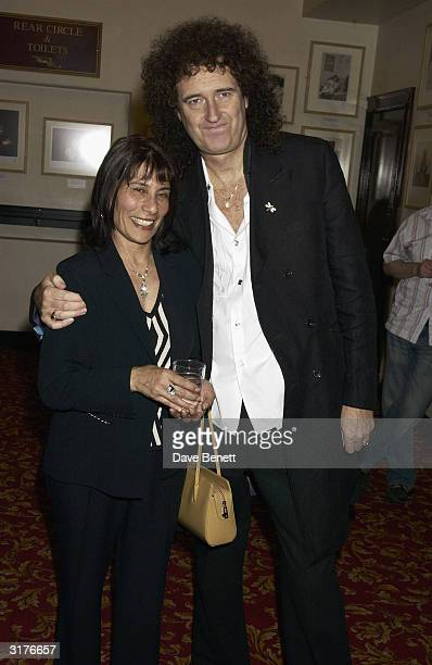 Brian May and Kashmira Cooke sister to Freddie Mercury attend the First Anniversary Of Musical We Will Rock You and the Freddie Mercury Photographic...