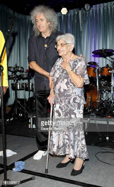 Brian May and mother of Freddie Mercury Jer Bulsara attend the second annual Freddie For A Day event in memory of Queen's late frontman Freddie...