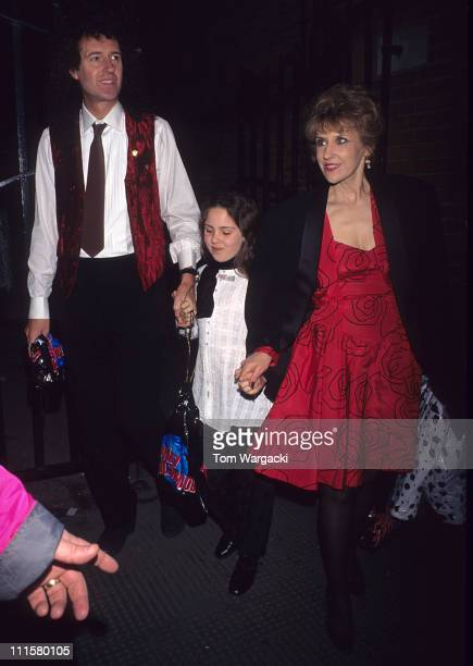 Brian May Anita Dobson and daughter during 101 Dalmatians London Premiere at Royal Albert Hall in London Great Britain