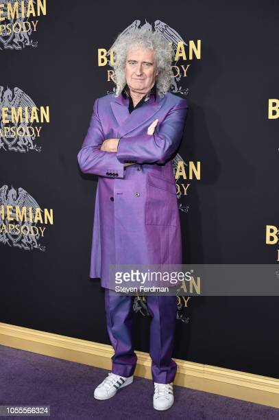 Brian May attends Bohemian Rhapsody New York Premiere at The Paris Theatre on October 30 2018 in New York City