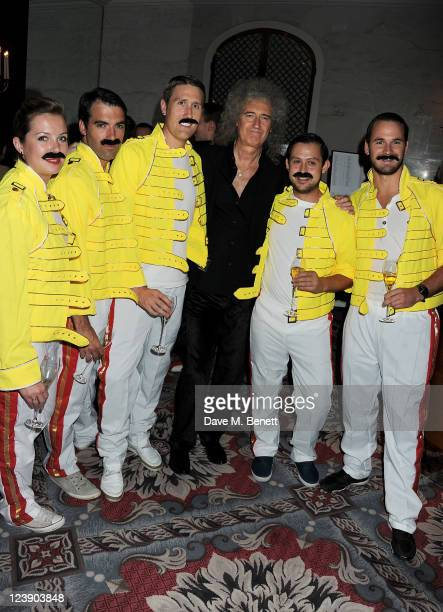 Brian May attends Freddie For A Day celebrating Freddie Mercury's 65th birthday in aid of The Mercury Pheonix Trust at The Savoy Hotel on September 5...