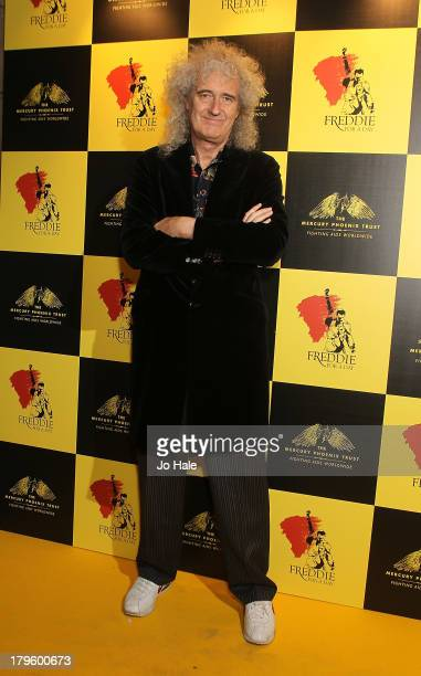 Brian May attends the Freddie for a Day charity event in aid of The Mercury Phoenix Trust at The Savoy Hotel on September 5 2013 in London England