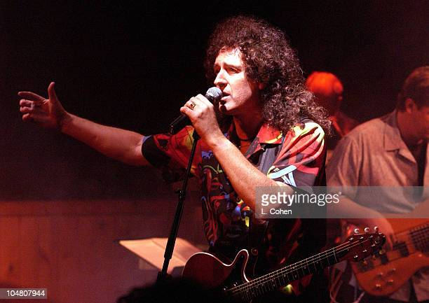 Brian May during Queen's First Concert in USA in Over 20 Years at Vinyl in Hollywood California United States