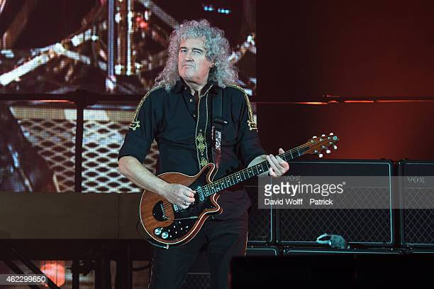 Brian May from Queen performs on January 26 2015 in Paris France