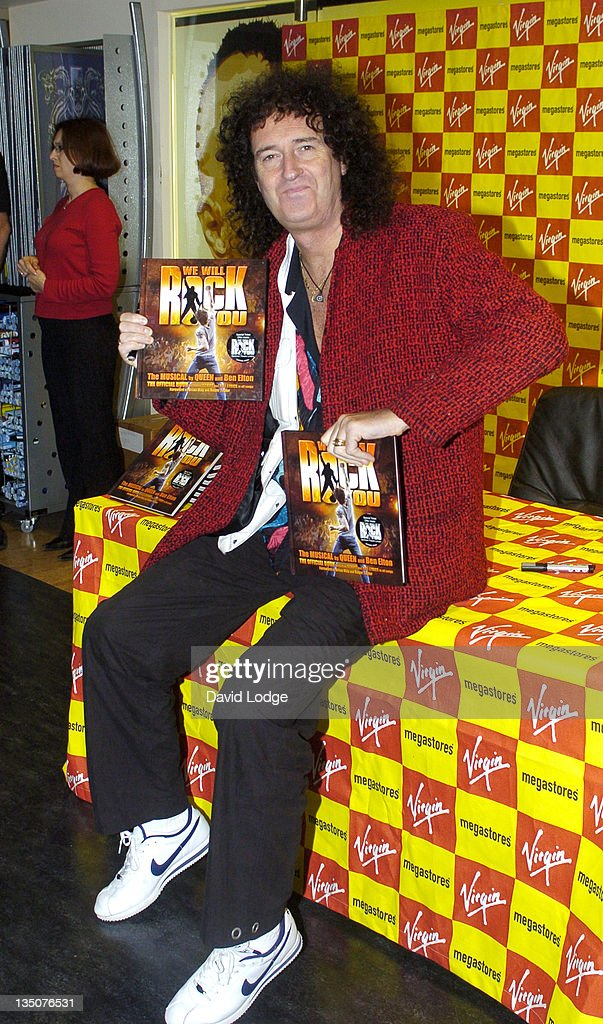 "Brian May Signs Copies of ""We Will Rock You"" at Virigin Megastore - September 28, 2004"