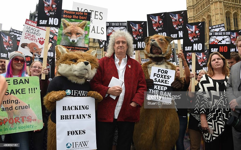 Brian May Leads Anti-Fox Hunting Rally : News Photo