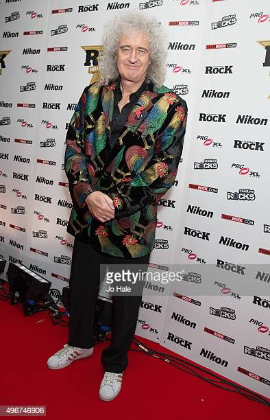 Brian May of Queen attends the Classic Rock Roll of Honour at The Roundhouse on November 11 2015 in London England