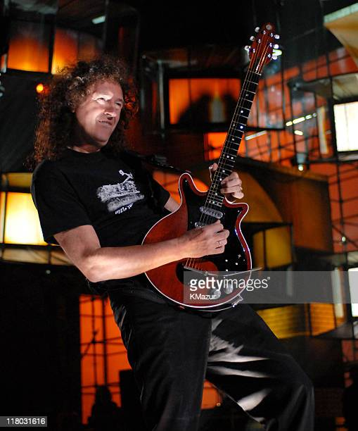 Brian May of Queen during 2006 VH1 Rock Honors Rehearsals Day One at Mandalay Bay Hotel and Casino in Las Vegas Nevada United States